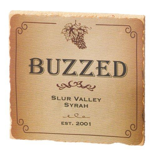 Bargain Grasslands Road in Vino Veritas Drunken Coasters, Set of 4 deal