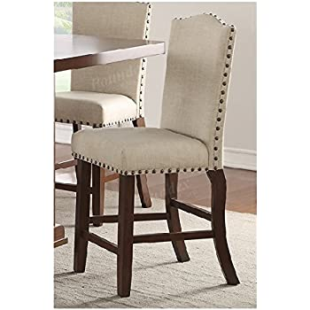amazon com acme furniture 59195 drogo counter height chair set of