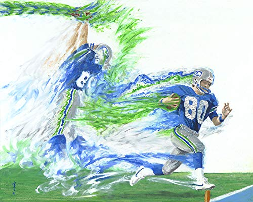 Steve Largent, 8x10in. Print, by Ryan O'Keefe