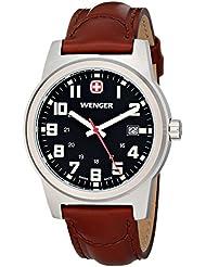 Wenger Mens 72800 Analog Display Swiss Quartz Brown Watch
