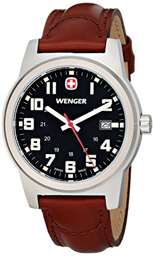 Wenger Men's 72800 Analog Display Swiss Quartz Brown Watch