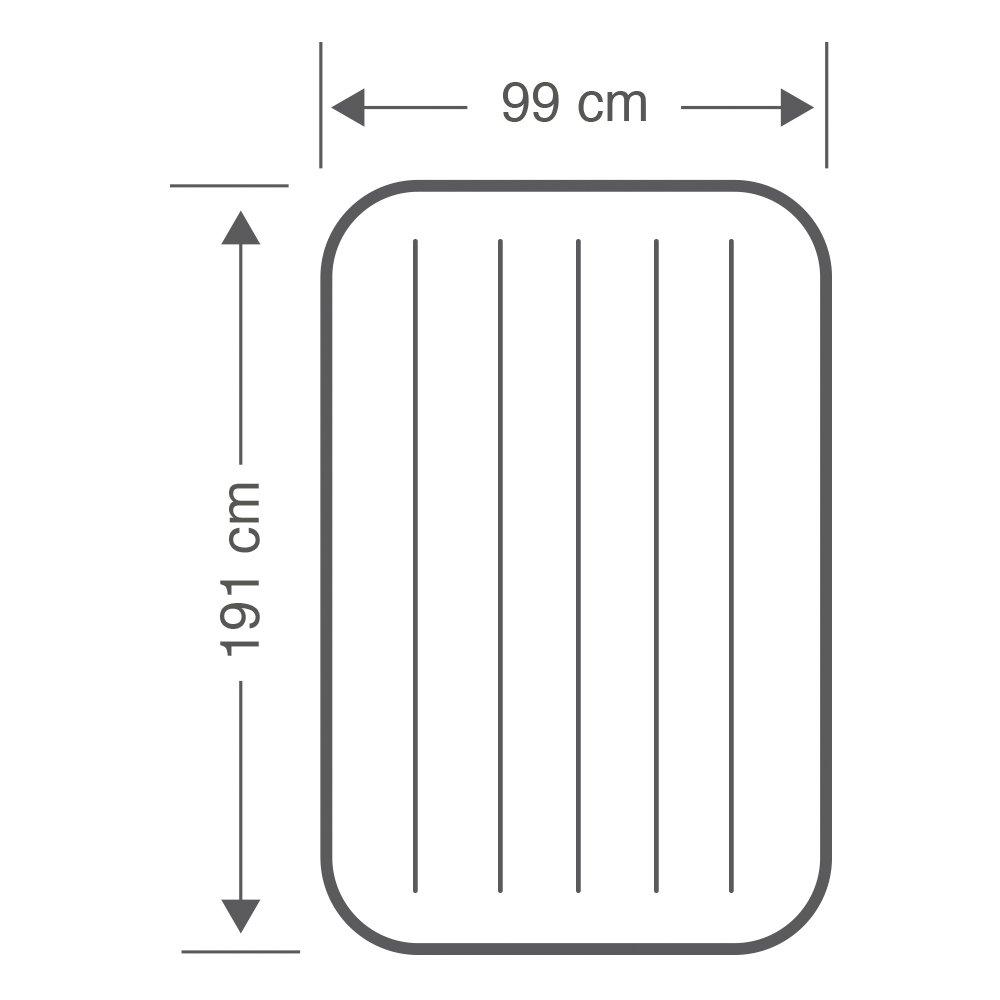 Intex 64707 - Colchon hinchable Dura-Beam Standard con Fibertech 99 x 191 x 25 cm: Amazon.es: Deportes y aire libre