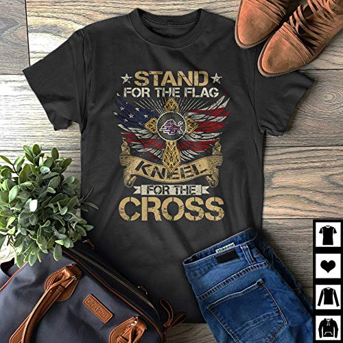 Savannah Stand - Stand for The Flag Savannah State Tigers Kneel For The Cross Fan Gift T-Shirt