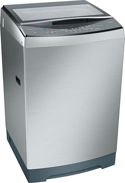 Bosch 12kg Fully Automatic Top Loading Washing Machine (WOA126X0IN, Silver) Washing Machines & Dryers at amazon