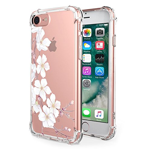 Price comparison product image Beryerbi iPhone 7 / iPhone 8 Case Soft TPU Super-Slim Clear Air Cushion Technology Protective Cover for Apple 7 / 8 (6,  iPhone 7 8)