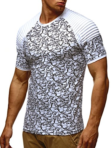 Ln650 T shirt Weiss Pour Hommes Leif Nelson Des Slim Sweatshirt Fit qSw11A