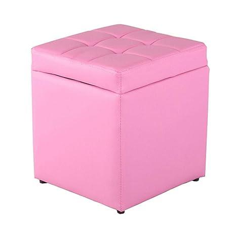 Amazon.com: Taburete de almacenamiento para baño, cuadrado ...