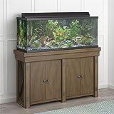 Ameriwood Home Wildwood Aquarium Stand, 55 gallon, Rustic Gray