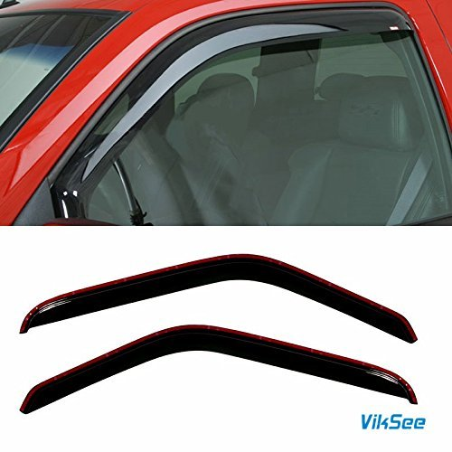 Viksee 2pcs Window Visors for 93-11 Ranger Front Door in-Channel Style Sun/Rain Vent Shade ()