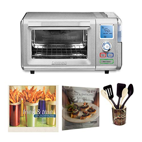 Cuisinart CSO-300 Combo Steam and Convection Toaster Oven (Stainless Steel) Includes 6-Piece Gadget Crock Set and 2 Cookbooks (Renewed) (Best Commercial Combi Oven)