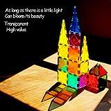 HOMOFY Kids Magnet TilesToys 60Pcs Oversize 3D