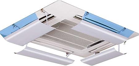 regolabile in inclinazione materiale plastico leggero adatto per 54-84 cm un pezzo Impedisci allaria di soffiare dritto Deflettore condizionatore per climatizzazione centrale a soffitto
