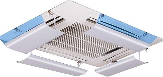 Desviador del Aire Acondicionado para el Aire Acondicionado Central de Techo, Evitar Que el Aire sople Recto, ángulo Ajustable, Conveniente para 54-84cm, Material plástico Ligero (de una Sola Pieza): Amazon.es: Hogar