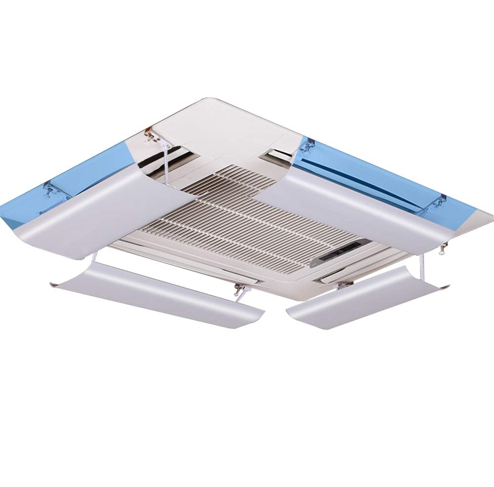 Air Conditioner Deflector for Ceiling Central Air Conditioning,Prevent The Air From Blowing Straight,Angle Adjustable,Suitable for 54-84cm,Lightweight Plastic Material(one piece) Yingpai