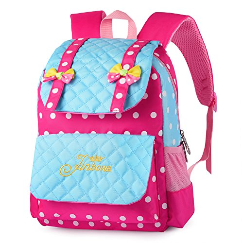 Vbiger Casual School Bag Children School Backpacks for Teen Girls (Red-blue)