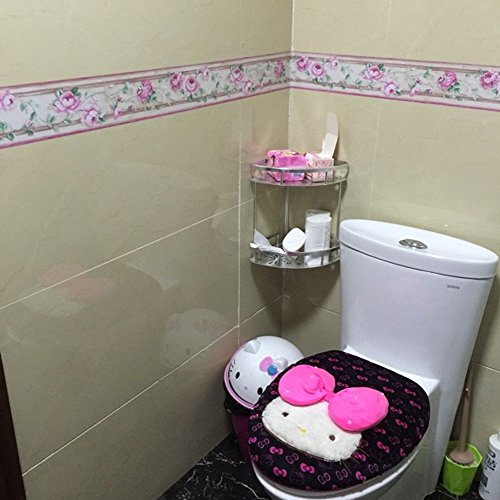 SimpleLife4U Luxury Peony Removable Wallpaper Border Self Adhesive Stciker Kitchen Bathroom Wall Decor by SimpleLife4U (Image #3)