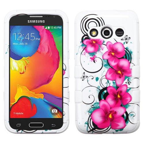 Galaxy Avant G386 Case - Wydan (TM) TUFF Impact Hybrid Hard Gel Shockproof Case Cover For Samsung Galaxy Avant G386 - Petunia