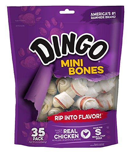 Dingo Non-China Mini Bone Chews for Dogs, Package may vary