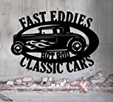 Hot Rod Garage - LARGE Personalized Sign - Metal Wall Art- 27x19 Customize It - Metal Wall Art Man Cave Father's Day Gift Grandpa's Dad's Or Custom Name
