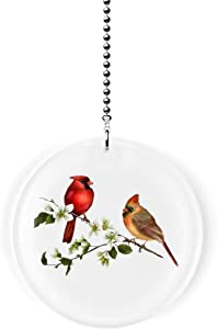 Cardinal Bird Couple Fan/Light Pull