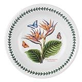 Portmeirion Exotic Botanic Garden Pasta Bowl with Bird of Paradise Motif, Set of 6