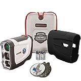 Bushnell Bundle 2016 Tour V4 Jolt Patriot Pack Golf Laser Rangefinder + CR2 Battery + 1 Custom Ball Marker Clip Set (American Eagle) + Black Silicon Skin