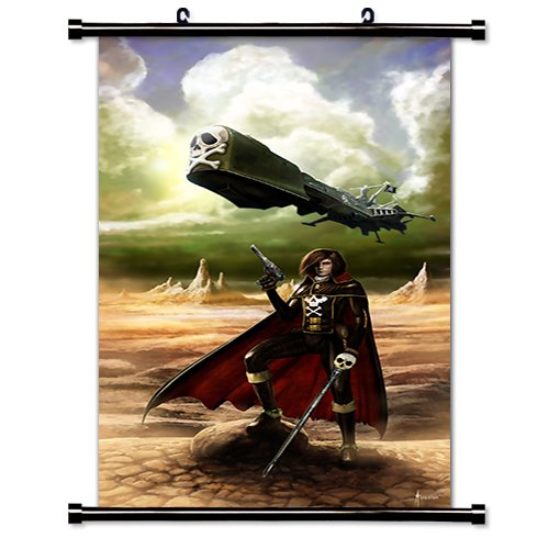 Captain Harlock Anime Fabric Wall Scroll Poster (16