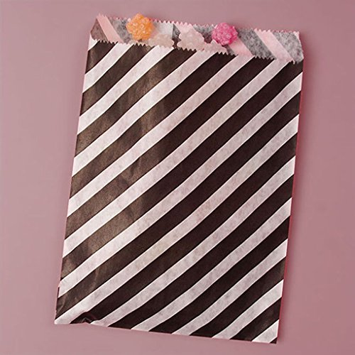 [Mememall Fashion Striped Polka Dot Candy Buffet Sweet Treat Loot Party Supplies Favor Bags Lot] (Kids Deluxe Beetlejuice Costumes)