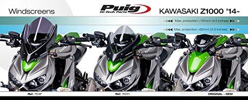 Windscreen Puig Sport Kawasaki Z 1000 14-18 dark