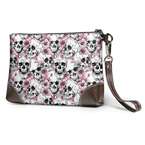 Skull Flowers Pink Cherry...