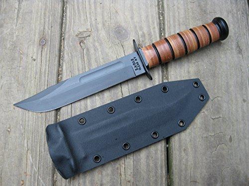 Valhalla Custom Kydex Sheath Ka-bar 1217 Fighting Knife BLACK Two Piece