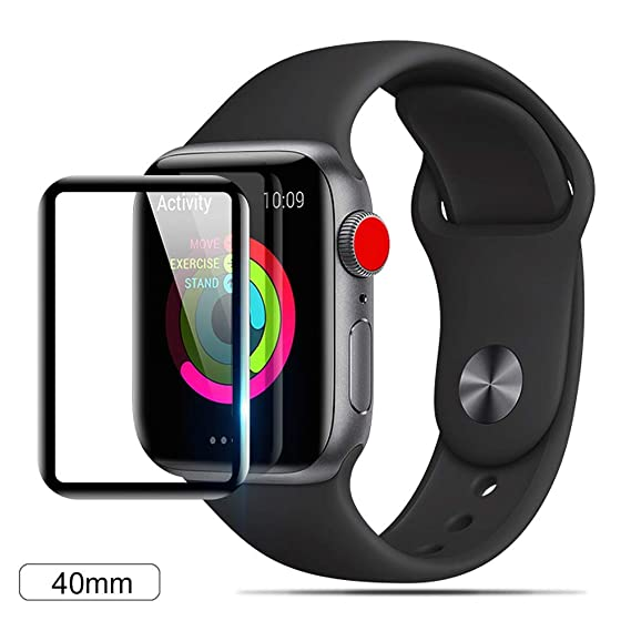 best website 9e8c9 e3351 VitaVela Apple Watch 4(40mm) Screen Protector,[3D Curved] [Case Friendly]  HD Tempered Glass Screen Film 9H Hardness Anti-Scratch Protective Film, for  ...