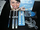 Easy Smile - Kit Tooth Whitening -Led Light + 20 Cc Peroxide Carbamide 35% + Remineralization Gel 3cc +2 Trays-Made in Usa-