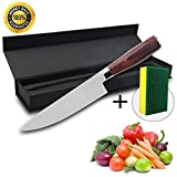 Kitchen Knife,Chef's Knife,Specialty 8'' 7Gr17Mov High Carbon Stainless Steel With Presented Exquisite Gift Box and Sponge Mat,Sharp Blade Let Sliced Meat Easily,Mirror Face.