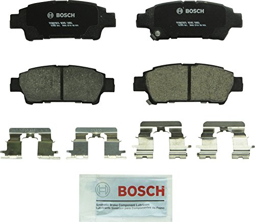 Bosch BC995 QuietCast Premium Ceramic Disc Brake Pad Set For 2004-2010 Toyota Sienna; Rear