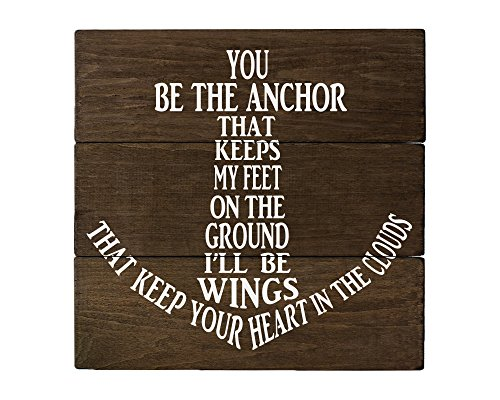 Elegant Signs You be The Anchor Wall Decor Wood Sign -