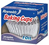 reynolds baking cups jumbo - Reynolds Baking Cups, Foil, Jumbo, 3 1/2 In, 24 Count (Pack of 6)