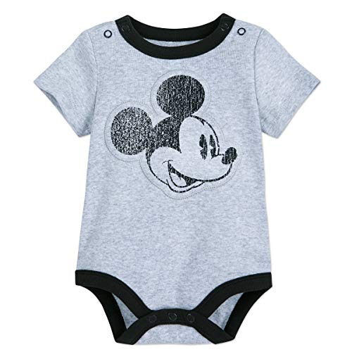 (Disney Mickey Mouse Bodysuit for Baby Size 9-12 MO Multi)