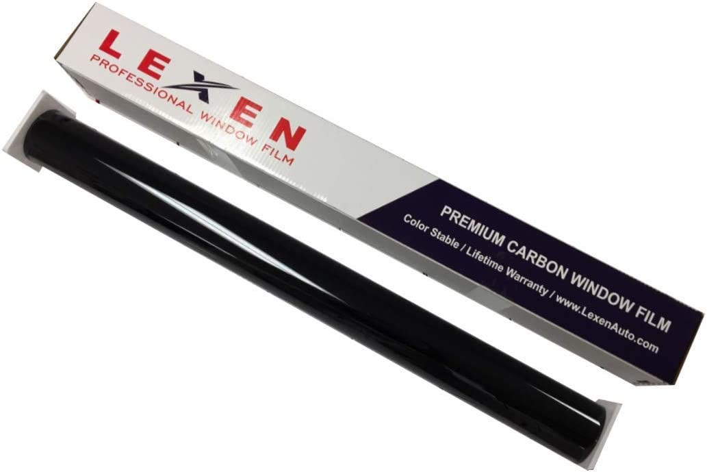 5/% Limo LEXEN 2Ply Premium Carbon 36 X 100FT Roll Window Tint Film Auto Car Darkest Shade