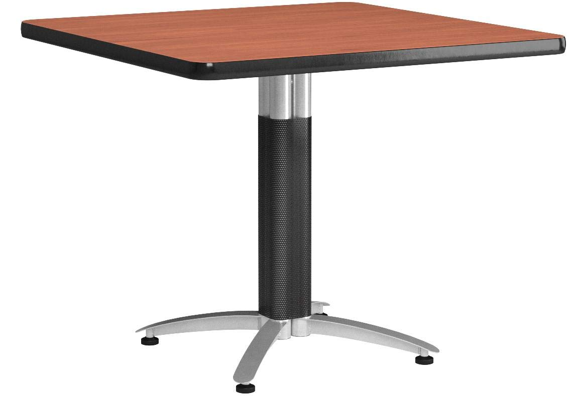 OFM Square Multi-Purpose Table, Metal Mesh Base, 36'', Cherry by OFM
