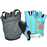 iwish Kid's Sports outdoor Glove Bike bicycle half-finger gloves Light Blue-Medium