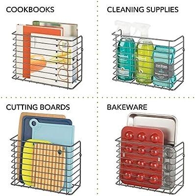 Amazon.com: mDesign Farmhouse - Cesta organizadora de ...
