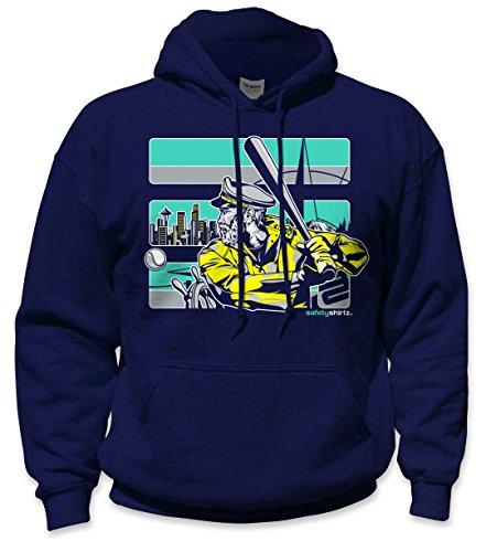 SafetyShirtz Seattle The Skipper Safety Hoody Navy/Turquoise ()