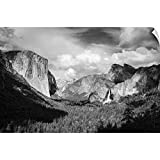 CANVAS ON DEMAND Russ Bishop Wall Peel Wall Art Print Entitled Yosemite Valley from Tunnel View, California 18'x12'