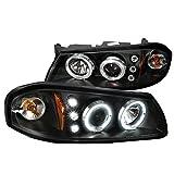 Spec-D Tuning 2LHP-IPA00JM-TM Chevy Impala Black Dual Halo Projector Head Lights