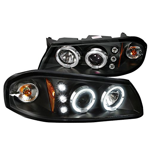 Spec-D Tuning 2LHP-IPA00JM-TM Chevy Impala Black Dual Halo Projector Head Lights Impala Halo Projector Headlights