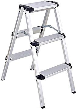 Escalera De Aluminio Escaleras Estables De Construcción Doméstica Almacenamiento Plegable Capacidad De Carga 150 Kg (Size : 3-step ladder): Amazon.es: Bricolaje y herramientas