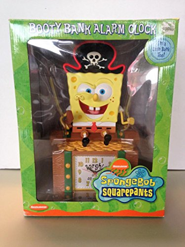 SpongeBob SquarePants Booty Bank Alarm Clock Original Box (Booty Banks)