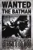 Batman Arkham Origins Poster Batman Wanted 50.000.000$ - Poster Großformat (91,5cm x 61cm)