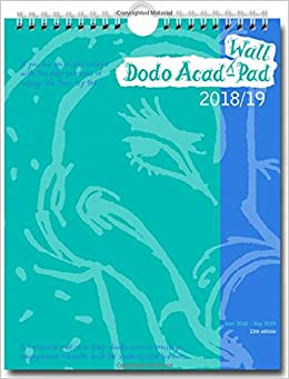 dodo wall acad pad 2018 2019 mid year calendar academic year week to view a mid year diary doodle memo message engagement calendar organiser planner for